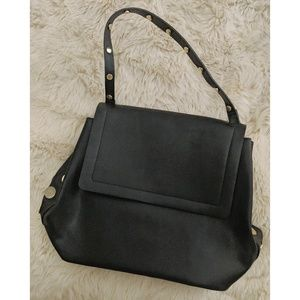 French Connection Black Handbag w/ Gold Accents